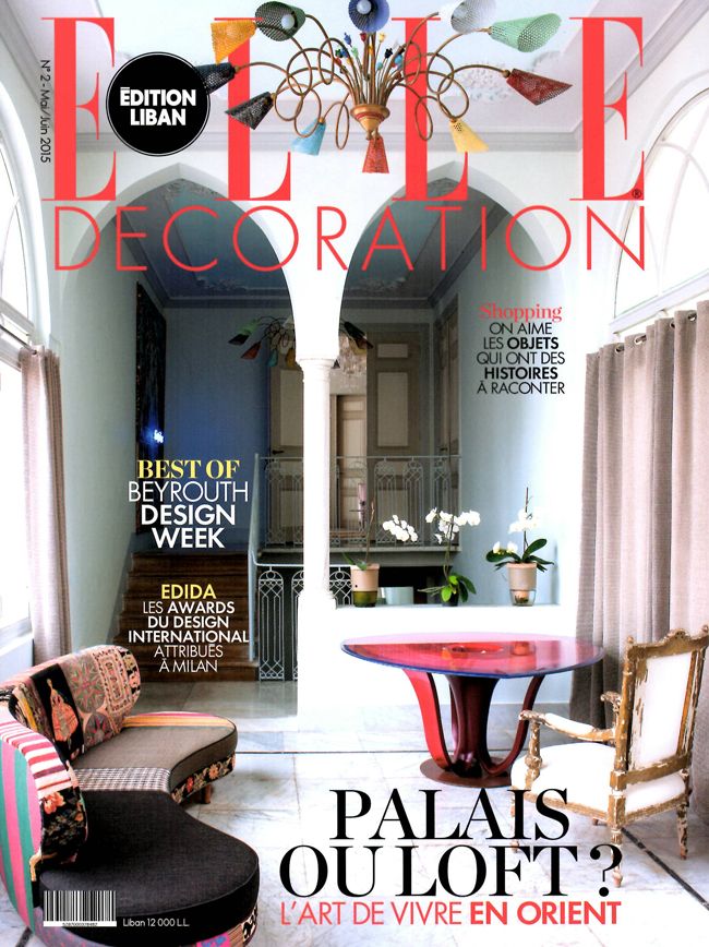 Magazine Elle Dco Lebanon May June 2015 Issue Features Mints Interior Design Project Article